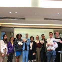 20200409華語課一、三月全勤獎頒獎